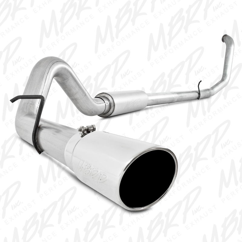 mbrp exhaust s6200al 4 installer series turbo back single exhaust aluminized ford powerstroke 7 3l 1999 2003